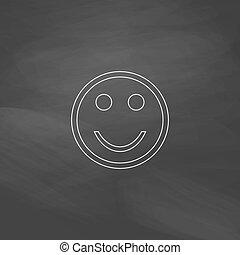 Happy face computer symbol