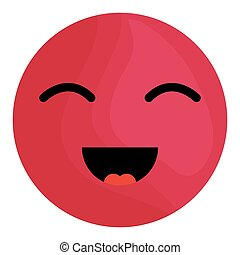 happy face emoticon character
