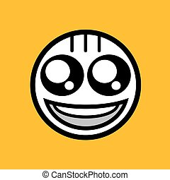 happy face icon design