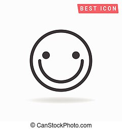 Happy face Icon Vector.