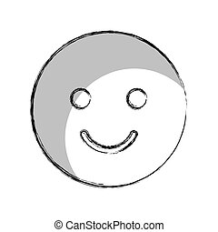 happy face isolated icon