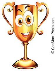 Happy face on trophy
