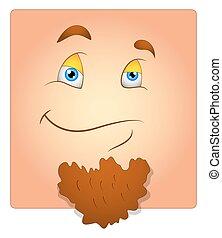 Happy Face with Beard Box Smiley