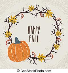Happy fall. Autumn wreath