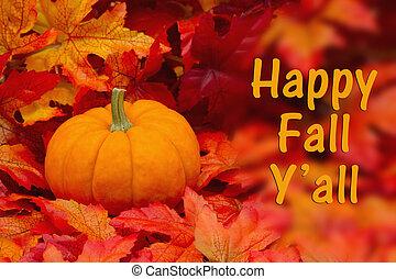 Happy Fall Y'all Greeting