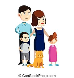 happy families illustration design