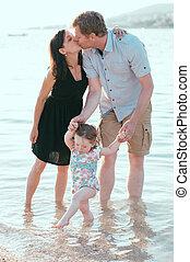 Happy family at vacation
