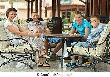 Happy Family at vacation resort