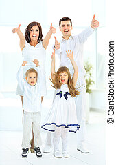 happy family at which all is good