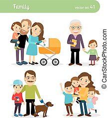 Happy family characters