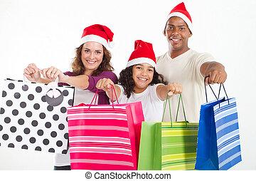 family Christmas shopping