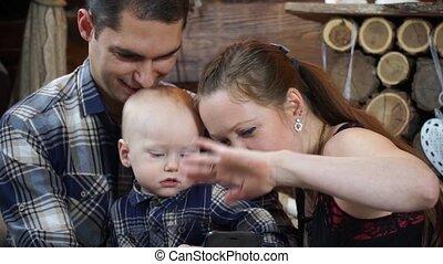 Happy family closeup