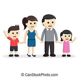 happy family color illustration design