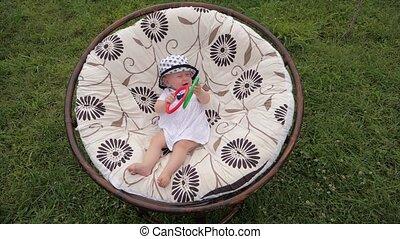 Happy family concept. Happy child having fun outdoor.