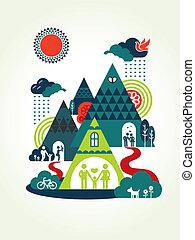 Happy Family Concept Illustration