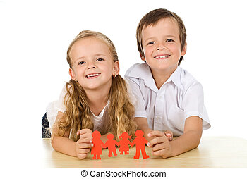 Happy family concept with kids