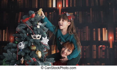 Happy Family Dress up Christmas Tree