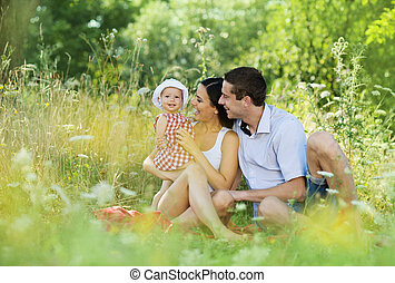 Happy family - Happy young family spending time together in ...