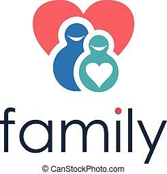 Happy family icon. Vector