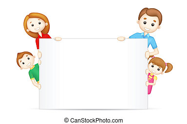 Happy Family - illustration of 3d happy family in vector...