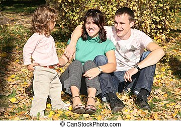 happy family in the park in autumn 3