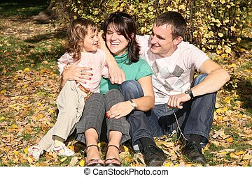 happy family in the park in autumn 4