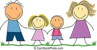 happy family, parents children