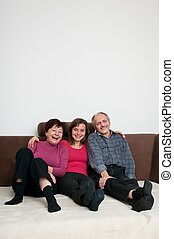 Happy family - portrait at home