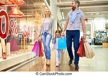 Happy Family Shopping on Sale