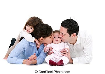Happy family showing affection