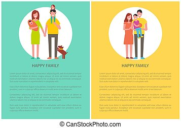 Happy Family Spend Time Together, Couple and Child