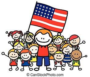 Happy family USA