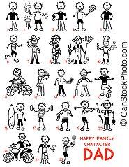 happy family vector dad