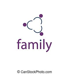 happy family vector design template