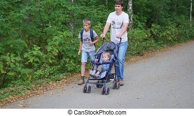 family walks in the Park