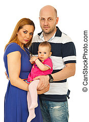Happy family with baby