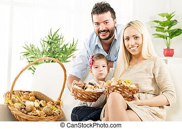 Happy Family With Good Appetite
