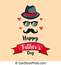 Happy father day design collection