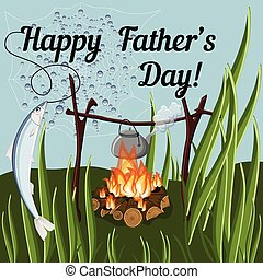 Happy Father Day greeting background in vector