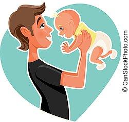 Single parent smile Vector Clipart EPS Images. 184 Single ...