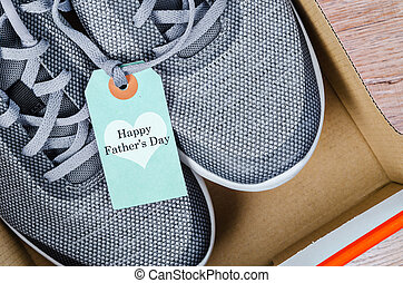 Happy father's day and sneakers.