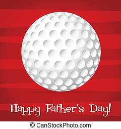 Bright golf ball Happy Father's Day card in vector format.