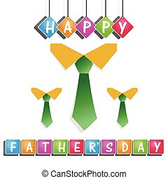 Happy Fathers day card design