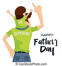 Happy Father's Day Cartoon - Precious Happy Moment With Superdad