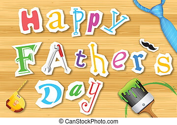 Happy Father's Day Craft - illustration of Happy Father's ...