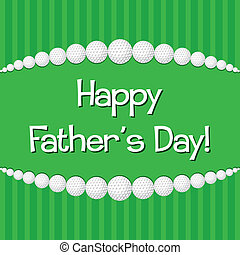 Golf theme Happy Father's Day card in vector format.