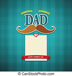 Happy fathers day greeting card background, vector...