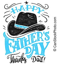 Happy Father's Day hand-lettering card