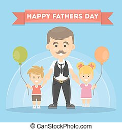 Unique happy fathers day post it note text greetings concept a happy fathers day m4hsunfo