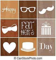 happy fathers day over brown background vector illustration